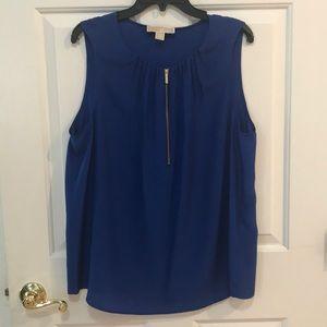 Michael Kors Gorgeous Cobalt Blue Shell Top XL EUC